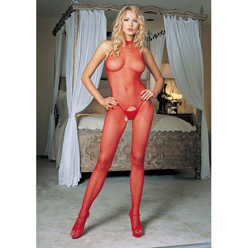 Leg Avenue piros nyakpántos, necc testharisnya (32850920199)