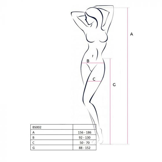 Passion oldalt és alul nyitott harisnyanadrág (fehér) S-L méret