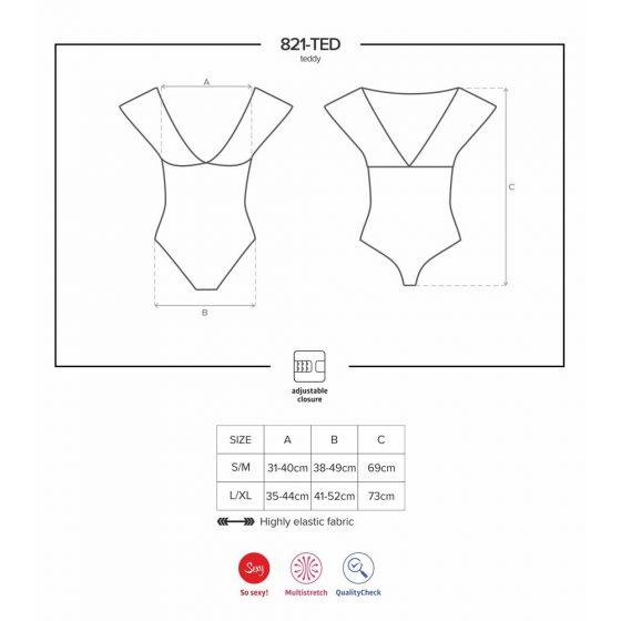 Obsessive 821-TED-1 body (fekete) S-M méret