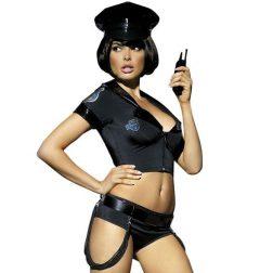 Obsessive rendőrnő jelmez (fekete) S-M méret