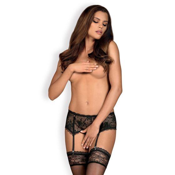 Obsessive Behindy harisnyatartó (fekete) L-XL méret