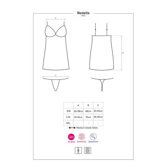 Obsessive Redella fűzős ruha és alsó L-XL méret